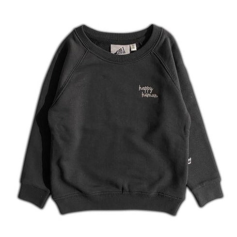 HAPPY HUMAN (SCRIPT) SWEATER BLACK