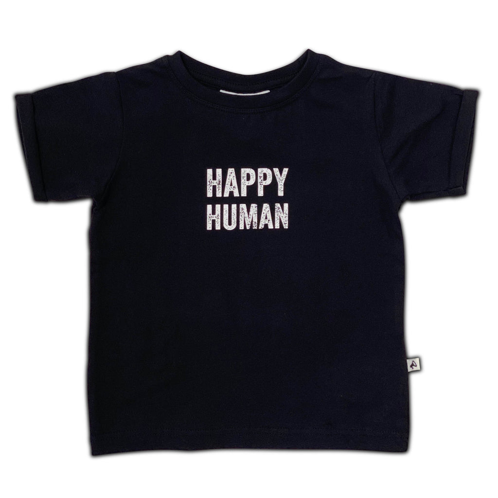 HAPPY HUMAN T-SHIRT BLACK