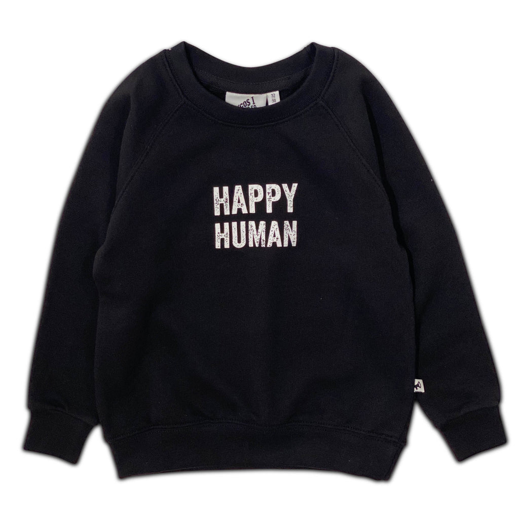 HAPPY HUMAN SWEATER BLACK