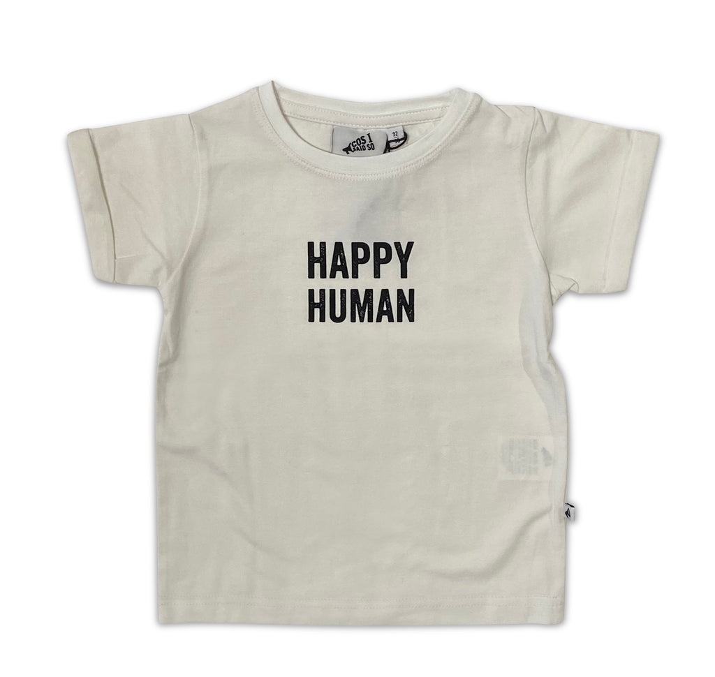 HAPPY HUMAN T-SHIRT WHITE