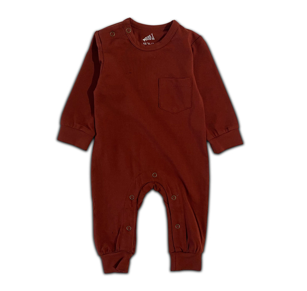 LONG SLEEVE ONESIE BRANDY