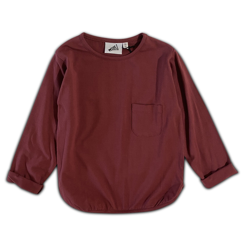 LONG SLEEVE POCKET TEE ROAN