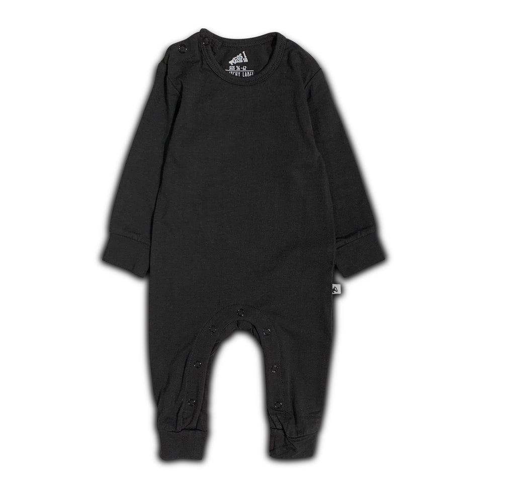 LONG SLEEVE ONESIE BLACK