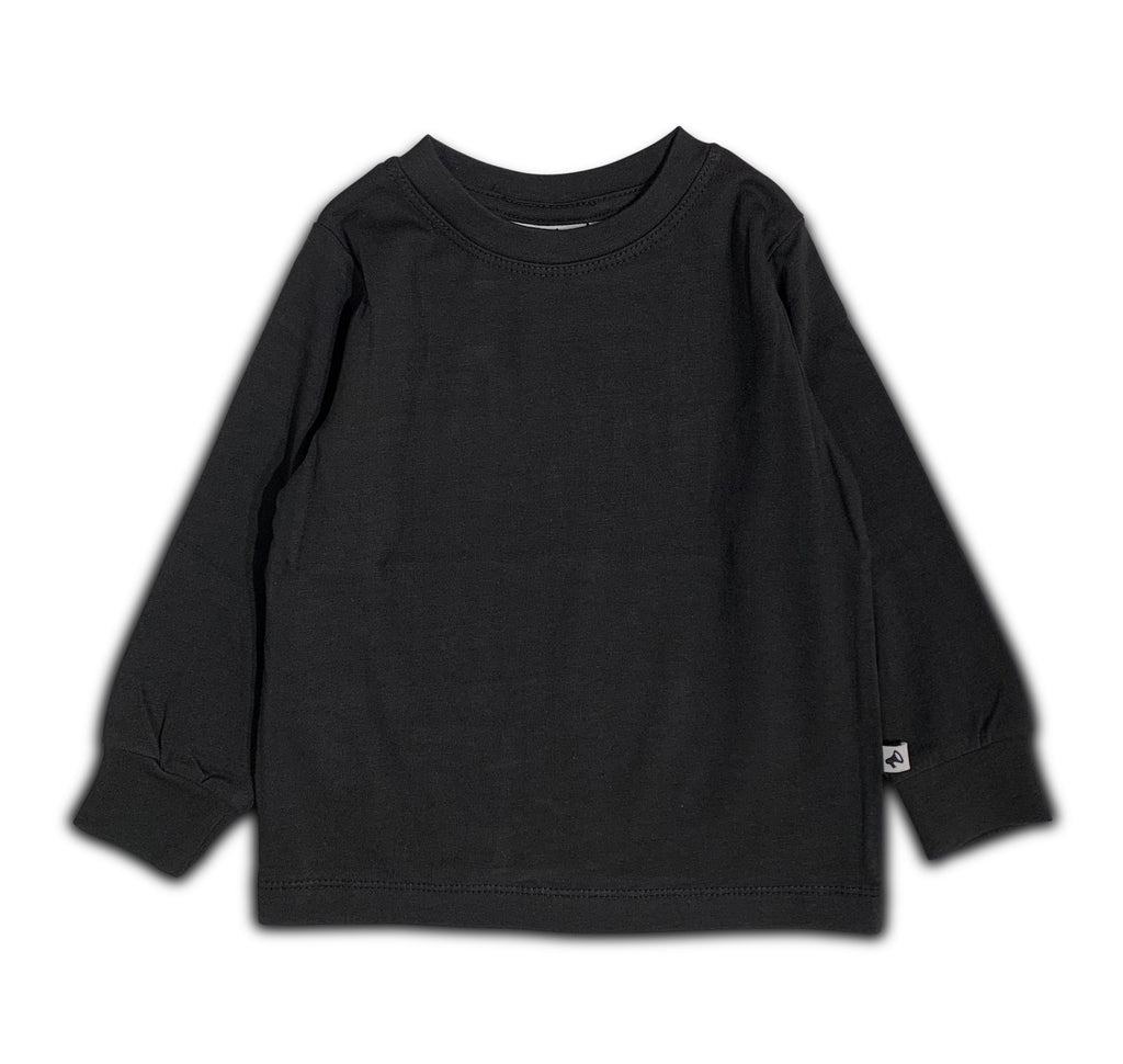 T-SHIRT BLACK LONG SLEEVE BLANCO