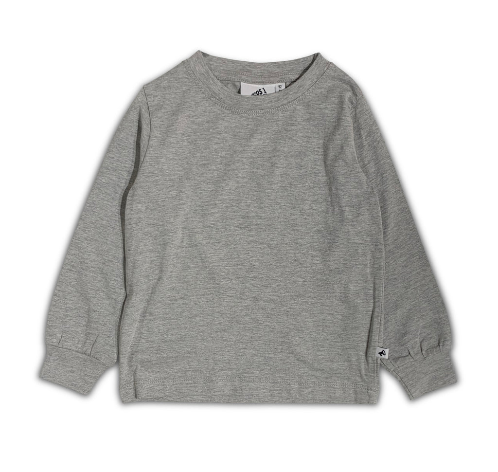 T-SHIRT GREY LONG SLEEVE BLANCO