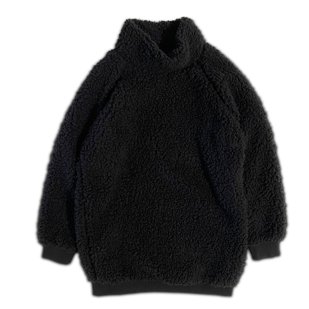 TURTLENECK DRESS SHERPA