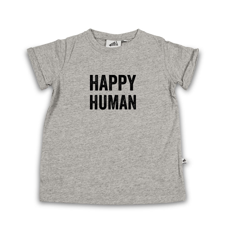 HAPPY HUMAN T-SHIRT GREY