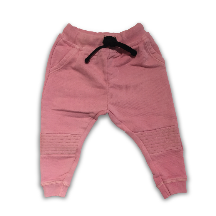 BIKER JOGGING PANT WASHED PINK
