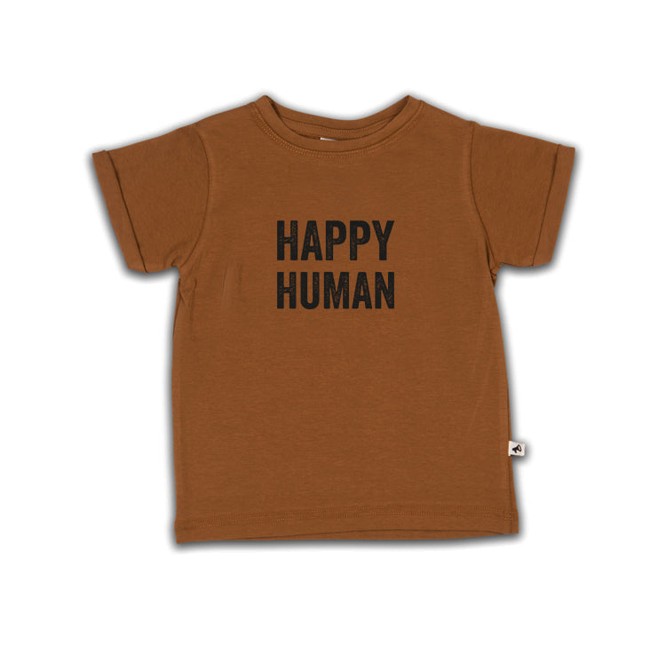 HAPPY HUMAN T-SHIRT RUBBER (SHORT + LONG SLEEVE)