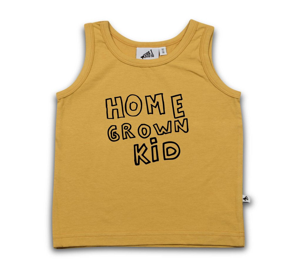 HOME GROWN KID TANK TOP + COLORS