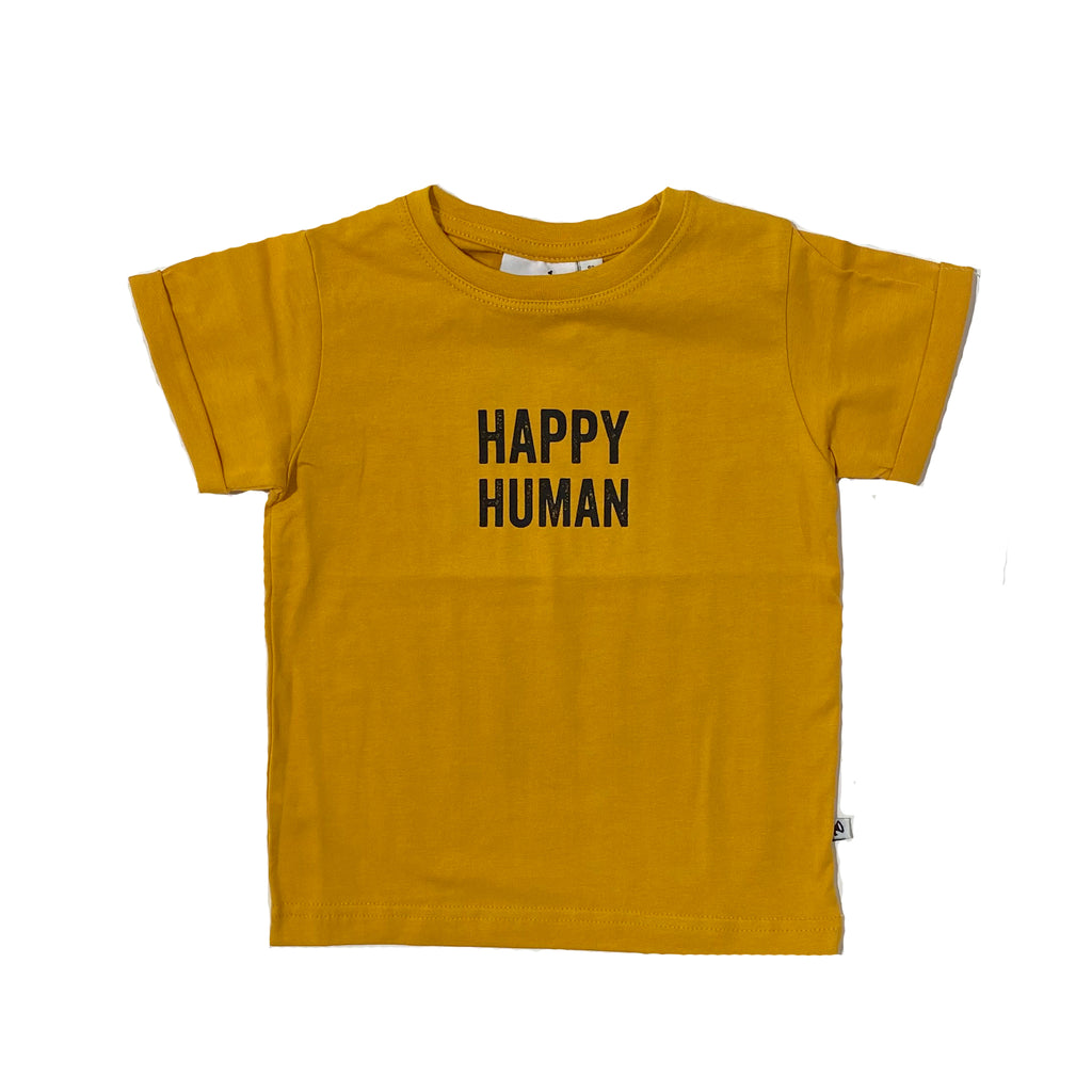 HAPPY HUMAN T-SHIRT GOLDEN