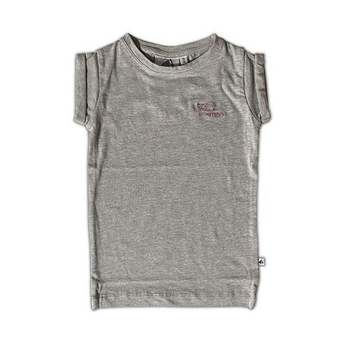 HAPPY HUMAN (SCRIPT) TEE DRESS GREY