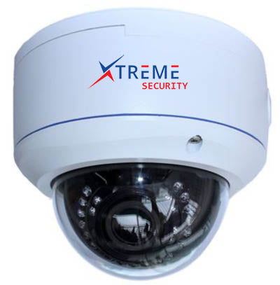Xtreme 2 Megapixel 1080P Sony Sensor 2.8-12mm Motorized Zoom & Auto Focus Big Vandal Proof Dome PoE IP Camera.