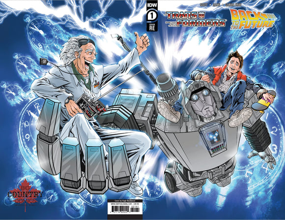 TRANSFORMERS BACK TO FUTURE #1 - Hugh Rookwood Full Wrap Around Variant