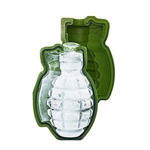 Creative Grenade Shape 3D ice tool Mold Maker Bar Party Silicone Trays Mold Tool Gift - Az Silver Cowboy Essentials
