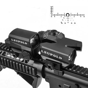 LEOPOULD D-EVO Dual-Enhanced  Rifle Scope Magnifier with LCO Red Dot Sight Reflex Sight Rifle Sights - Az Silver Cowboy Essentials
