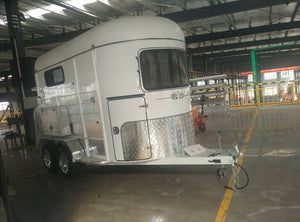 2019 ,CUSTOM HORSE TRAILER,FLOAT HY PERFORMANCE SUSPENSION EASY TOW DESIGN - Az Silver Cowboy Essentials