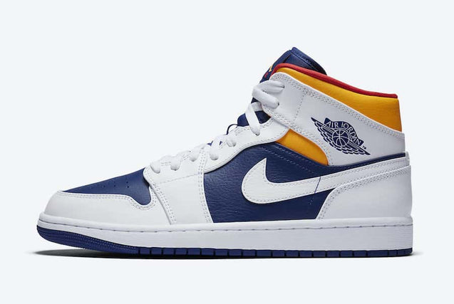 Nike Air Jordan 1 Mid Royal Blue Laser Orange