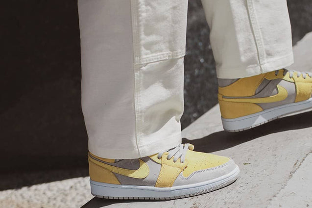 Nike Air Jordan 1 Mid Mixed Textures Yellow