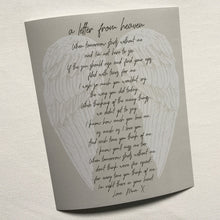 Load image into Gallery viewer, Personalised In Loving Memory Letter From Heaven