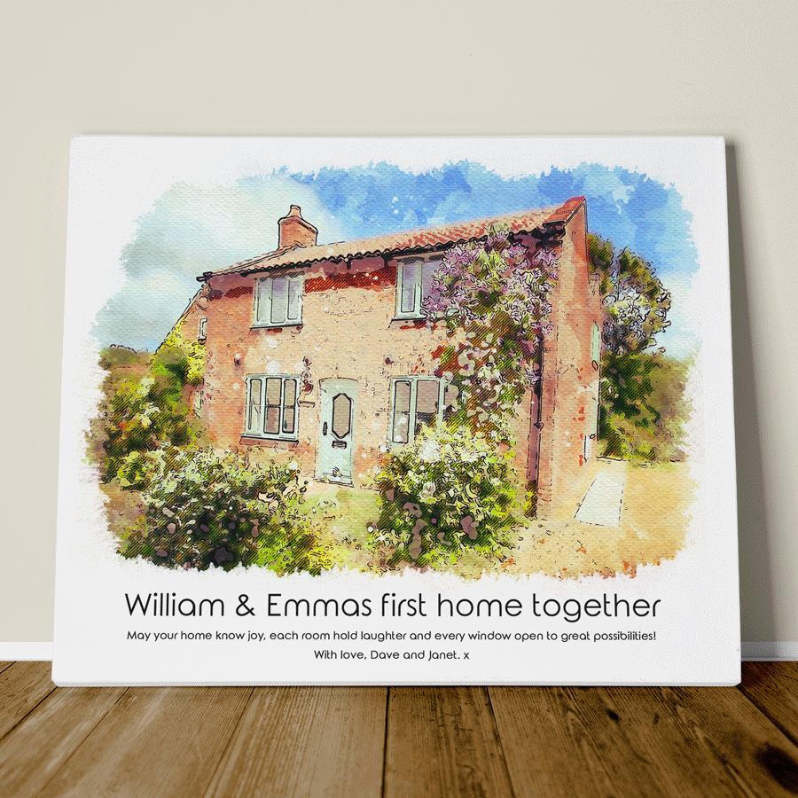 Best Housewarming Gift New Home Portrait Illustration