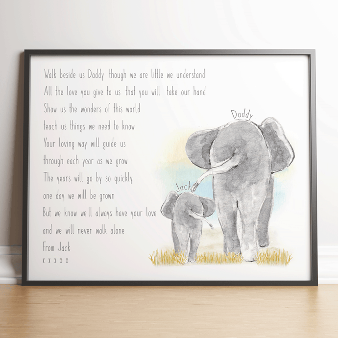 Father's Day Elephant Print
