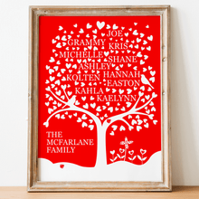 Load image into Gallery viewer, Heart Family Tree