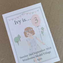 Load image into Gallery viewer, Personalised 1st Birthday Invites