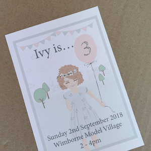 Personalised 1st Birthday Invites