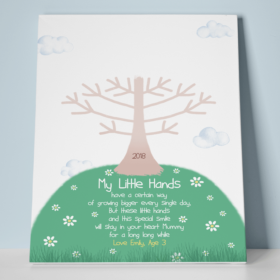 Personalised Baby Handprint Keepsake