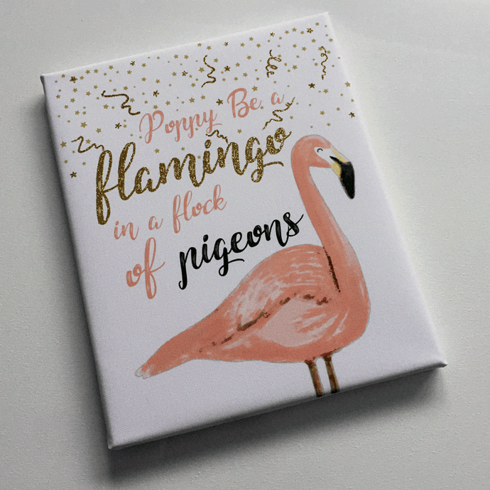 Personalised Be A Flamingo Gift