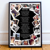 Personalised Anniversary Polaroid Style Collage