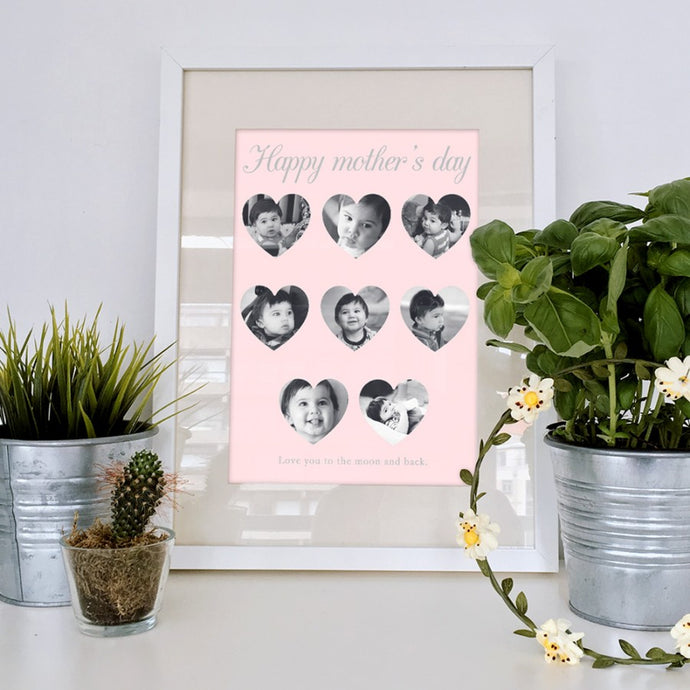 Personalised Mothers Day Heart Collage