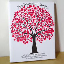 Load image into Gallery viewer, Personalised Family Tree Gift Our Roots Remain As One