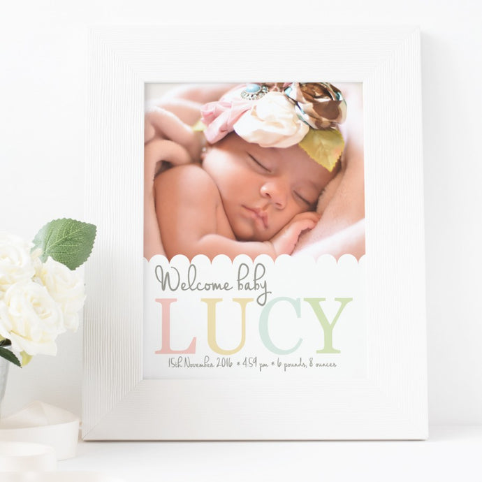 Newborn Baby Photo Keepsake Nursery