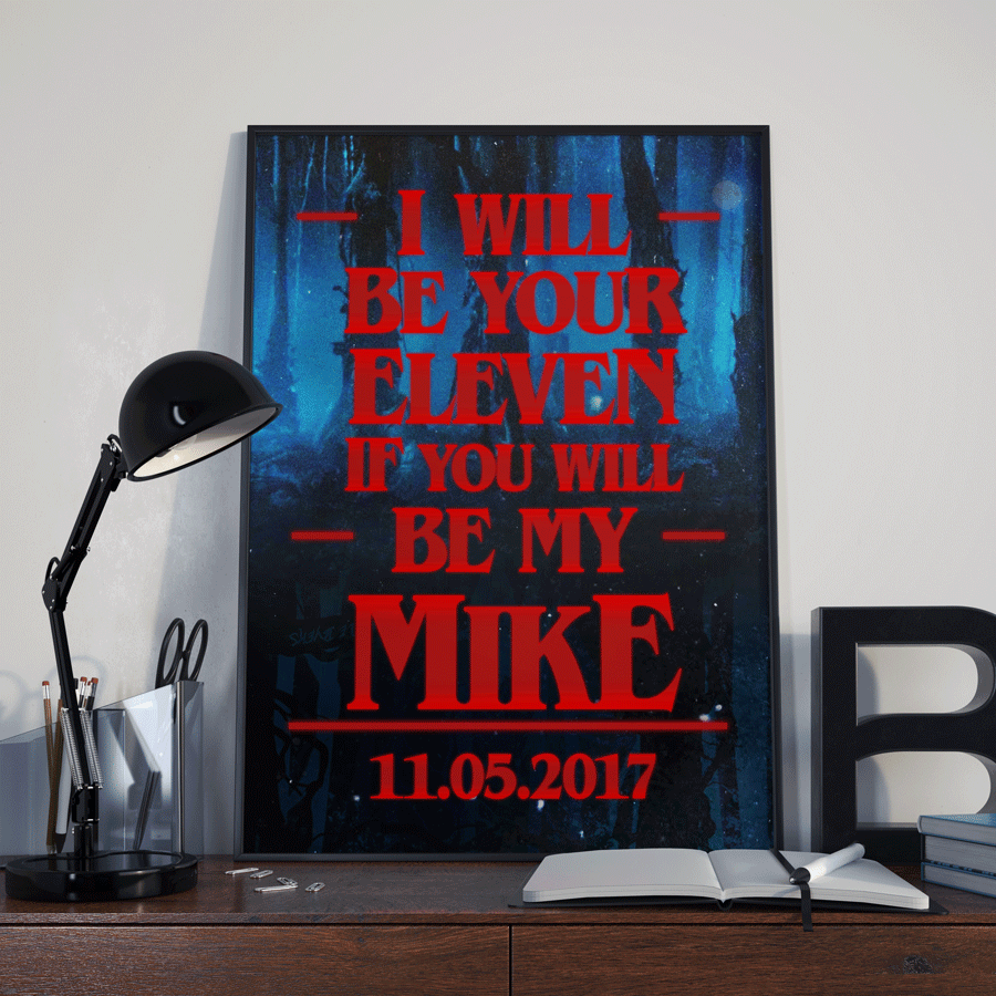 Personalised Stranger Things Fan Gift