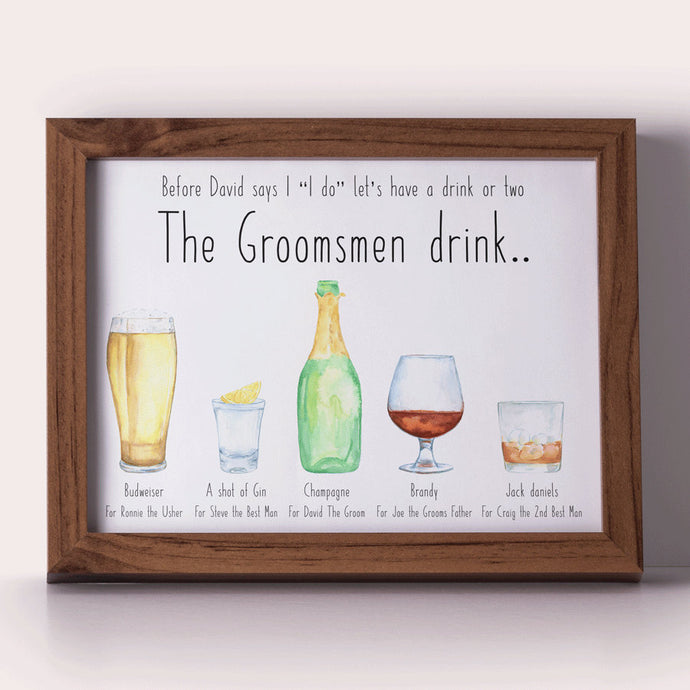 Personalised stag do keepsake for best man groomsmen gifts