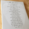 Personalised In Loving Memory Letter From Heaven