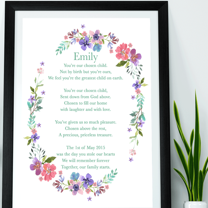 Adopted Child Keepsake Poem