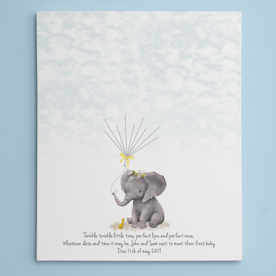 Personalised Baby Shower Fingerprint