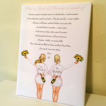Load image into Gallery viewer, Personalised Maid Of Honour Gift Bridesmaid Poem