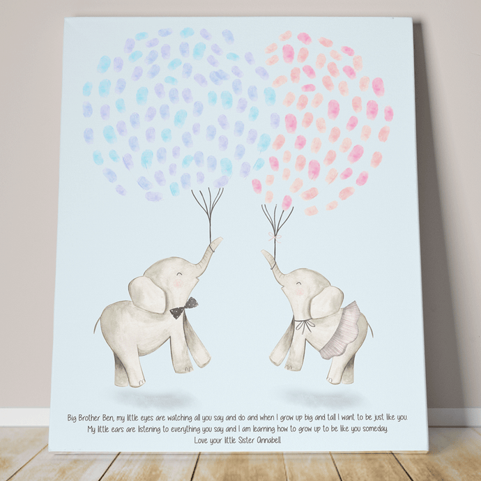 Brother And Sister Fingerprint Keepsake