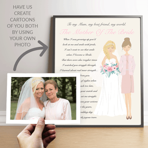 Personalised Wedding Keepsake Mother Of The Bride
