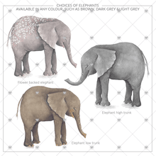 Load image into Gallery viewer, Personalised Elephant Family Keepsake