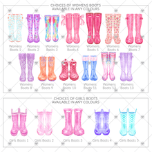 Load image into Gallery viewer, Personalised welly boot family picture