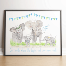 Load image into Gallery viewer, Elephant Family Keepsake