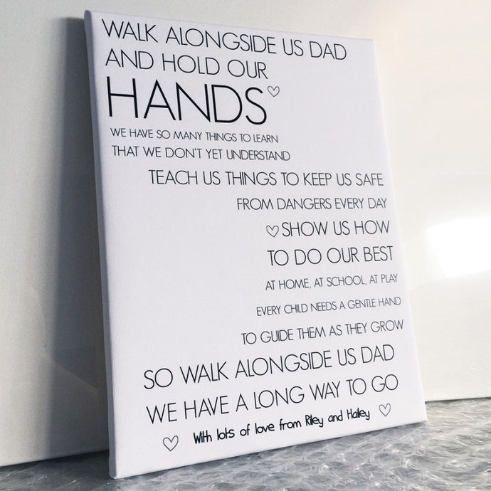 Personalised Fathers Day Hand Print Poem