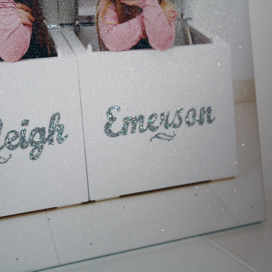 Glitter Canvas Photo Gift