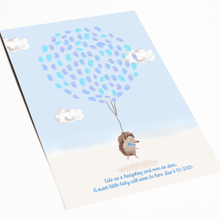 Load image into Gallery viewer, Hedgehog Baby Shower Poem Woodland Baby Nursery