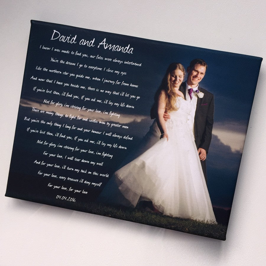 Personalised Wedding First Dance Song Keepsake Anniversary Gift